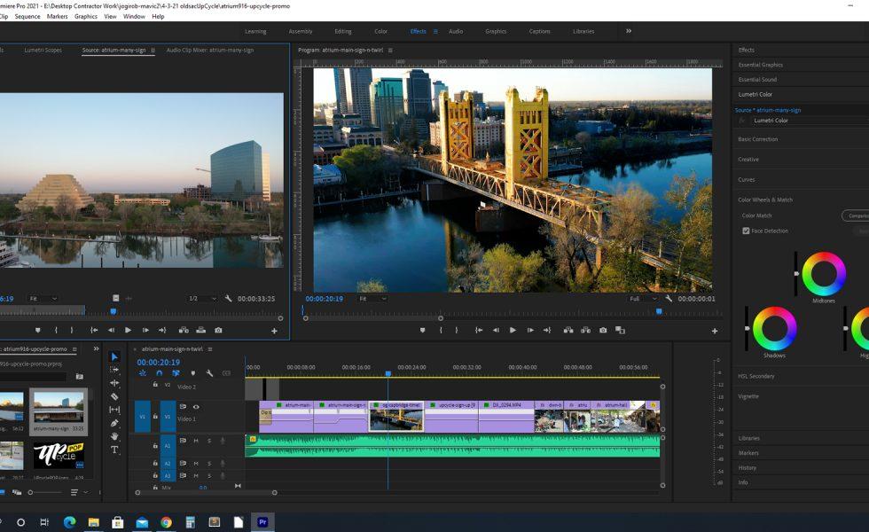 Screenshot of Premiere Pro project.