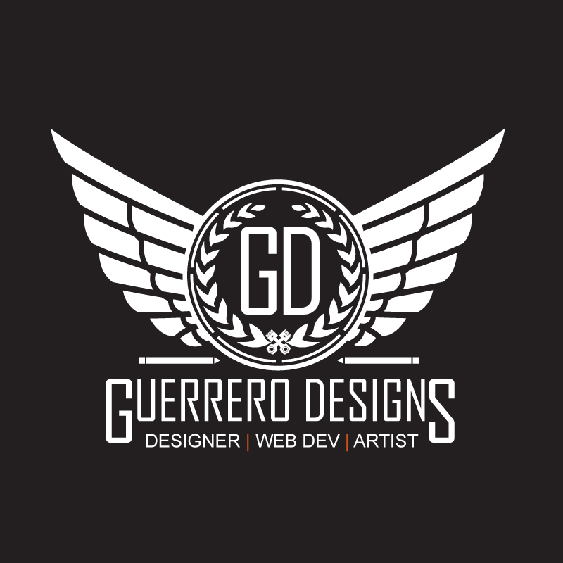 Full size logo for Guerrero Designs.