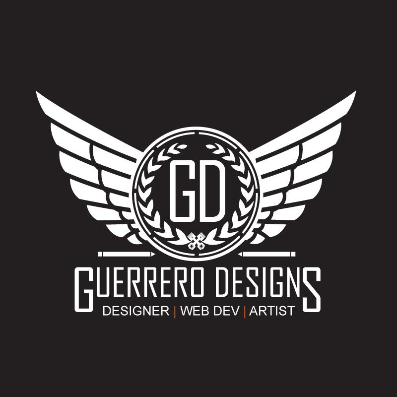 Full size logo for Guerrero Designs.