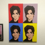 Warhol inspired quadrityptic of Prince